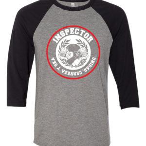Inspector - Unidad Cerveza y Ska raglan 3/4 sleeve t-shirt